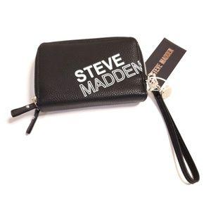 Steve Madden Black Logo Wallet Wristlet NWT